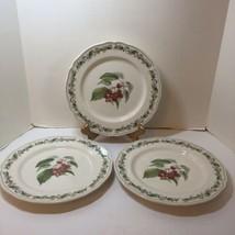 "3 Dinner Plates Noritake Harvest Treasure 10.5"" Cherries Fruit - $24.18"