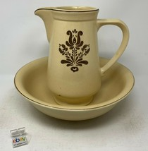 "Pfaltzgraff ""Village"" Bowl and Pitcher Set - #224 and #416, Vintage Old Castle! - $31.99"