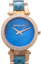 Michael Kors Parker Blue Crystal  Ladies Watch MK6491 New With Tags - $159.90
