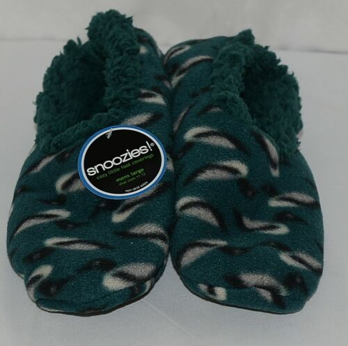 Snoozies Brand 500274N Duck Style Dark Green Color Mens Size L House Slippers