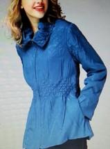 Jerry T Teal Blue Light Jacket 1X 18 20 SR 7061 New NWT - $46.74