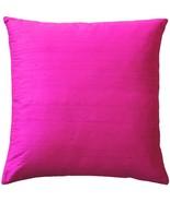 Pillow Decor - Sankara Fuchsia Pink Silk Throw Pillow 20x20 - $49.95