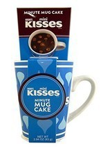 Hershey's Mini Kisses Minute Cake Ceramic Mug with Cake Mix, 2.94 oz - $19.59