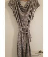 Target Merona Grey Jersey Stretch Knit Belted Dress Size 1-2 - $16.82