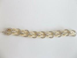 Vtg. Nolan Miller Bracelet Circlet Rhinestone Braided Pearl GORGEOUS! - $39.99