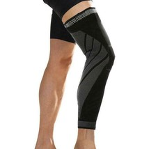Drop Ship from USA 1PCS full Length Leg Compression Sleeves Basketball Knee Brac image 2