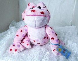 "GANZ Plush Love Frog Webkinz 8"" Pink Plush Toy with Tag HM144 - Super Cute! - $12.19"