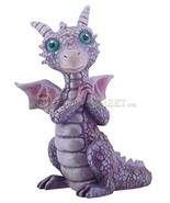 YTC 3.75 Inch Cold Cast Resin Purple and Pink Baby Dragon Figurine - $10.82