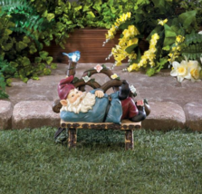 Solar Afternoon Nap Gnome with Light Up Bluebird Garden Statue - $24.89