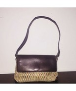 Fossil Straw Shoulder Purse Small Brown Snap Closure Wicker - $20.89