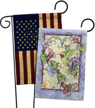Hummingbird with Trumpet Flowers - Impressions Decorative USA Vintage - Applique - $30.97