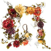 Assorted Rose, Peony, Hydrangea & Dahlia Mixed  6 foot Garland - $85.00