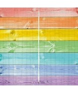 Curtains Rainbow Wooden Plank Print Backdrop 38081 - $38.09
