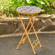 Zaer Ltd. Mosaic Tile Furniture (Small Accent Table, Santa Fe Light-Orange) - $89.95