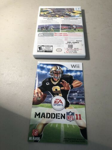 Madden NFL 11 (Nintendo Wii, 2011) Complete w/ Manual