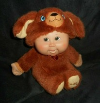2008 Cabbage Patch Cuties Kids Brown Puppy Dog Stuffed Animal Plush Toy Doll - $17.77