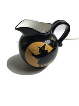 Halloween Moon Broom Night  Witch Pitcher Susan Winget Scary Fun Drink Decorate - $29.70