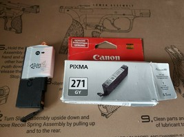 Canon Pixma 271 GY Gray Grey Ink Cartridge Official Factory Sealed - $13.00