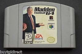 EA Sports John Madden Football 64 Nintendo Video Game Cartridge Vintage ... - $19.99