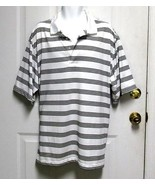 New 3XL 54-56 George Mens White w/Thin Black Stripes 3 Button Polo Rugby... - $11.95