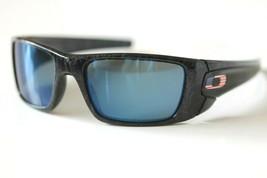 38ec6330666f Custom Oakley Fuel Cell POLARIZED Sunglasses Black Ghost Text W  Ice  Iridium -  148.49