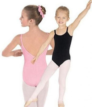 Eurotard 10527C Pink Child size Medium Low-V Back Camisole Leotard - DEFECT - $12.99
