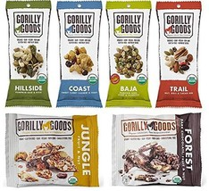 Gorilly Goods Paleo-Organic-Raw-Vegan Trail Mix Individual Snack Packs -... - $19.58