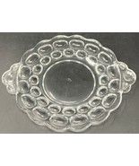 Heisey WHIRLPOOL CLEAR Round Snack Plate 7-3/4 Handle to Handle 19-2555 - $17.09