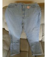 Faded Glory Womens Blue Jeans Pants Straight Leg Size 16/18? See Measure... - $21.24