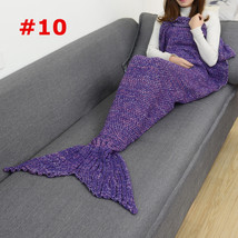 Mermaid Tail #10 Blanket Throw Bed Wrap Super Soft Crochet Warm Blanket - $15.30+