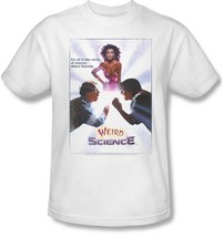 Weird Science T-shirt Movie Poster retro 1980s 100% cotton white tee UNI516 image 2
