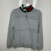 Tommy Hilfiger Boys Gray Quarter Zip Sweater Long Sleeve Size M (12-14) - $18.81