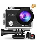 Crosstour 4K Action Camera 16MP WiFi Underwater Cam 30M Waterproof Case ... - $42.14