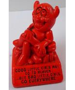 "Vintage 1970 PAULA Red DEVIL ""BAD LITTLE GIRLS GO EVERYWHERE"" Statue W-... - $79.19"