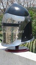 NauticalMart Medieval Barbute Armor Helmet In Blackened Finish - $139.00