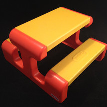 Little Tikes Dollhouse Size Picnic Table Toy 1990s - $7.73