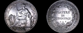 1904-A French Indo-China 1 Piastre World Silver Coin - Vietnam - $209.99