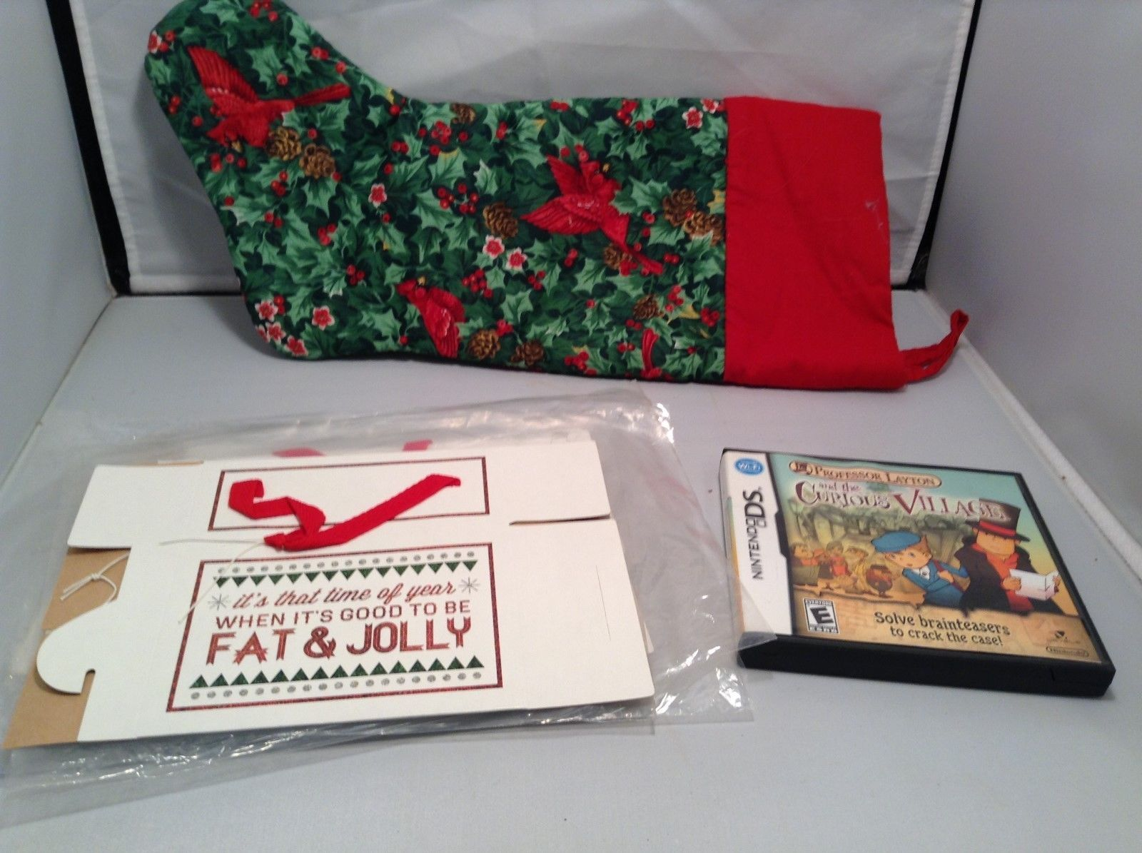 DS Game Cardboard Cookie Boxes & Stocking Mixed Item Christmas Set