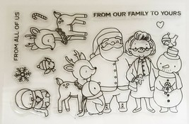 """Holiday Stamp Set """"From Our Family to Yours"""" with Matching Dies - Card Making"""