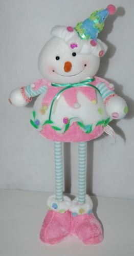 Sterling 18911074 Clown Snowman 15 Inches Figurine Pastel Colors