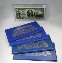 Lot of 5 U.S. Commemorative Bank Notes UNC Genuine Legal Tender Encased PC-456 - $47.26