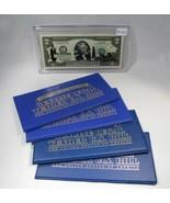 Lot of 5 U.S. Commemorative Bank Notes UNC Genuine Legal Tender Encased ... - $47.26
