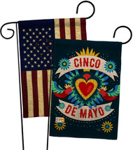 Cambaya Cinco De Mayo Burlap - Impressions Decorative USA Vintage Applique Garde - $34.97