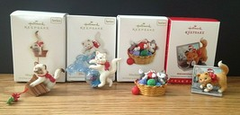 4 Lot Hallmark Keepsake Ornaments Mischievous Kittens 2009,2010,2012,201... - $39.50