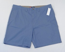 Chaps Flat Front Blue Cotton Shorts Mens NWT - $33.74