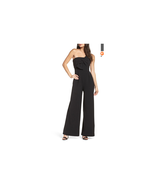 Nordstrom Chelsea28 Black Strapless Bow Front Jumpsuit Size 10 NWT - $48.51