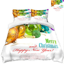 3D Christmas  Xmas 3635 Bed Pillowcases Quilt Duvet Cover Set Single Queen King - $64.32+