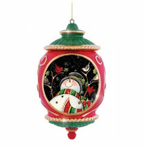 Snowman Birds Precious Moments Ornament Porcelain Susan Winget NOS NWOB - $25.73