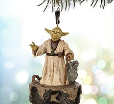 NIP Star Wars YODA Talking Disney Sketchbook Ornament 2015 Free US Shipp... - $20.90