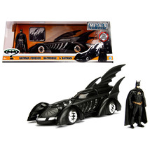 1995 Batman Forever Batmobile with Diecast Batman Figure 1/24 Diecast Mo... - $52.98